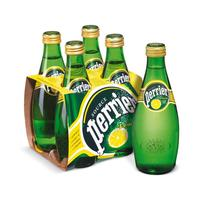 Вода минеральная Perrier газированная со вкусом лимона 0.33 л (4 штуки в упаковке)