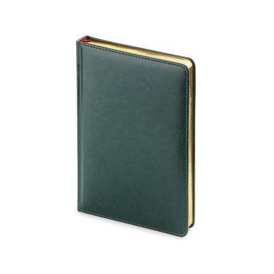 Ежедневник датированный 2022 год Attache Sidney Nebraska искусственная  кожа А5+ 168 листов зеленый (золотистый обрез, 145x205 мм)
