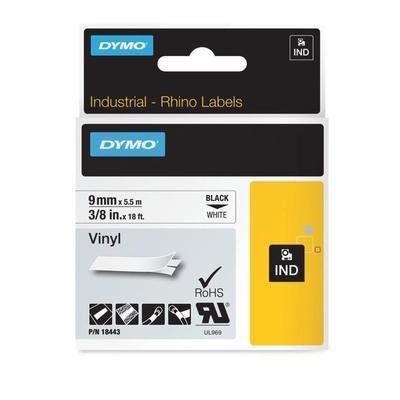 Картридж для принтера этикеток DYMO RPRO VNYL (9 мм x 5,5 м, цвет ленты белый, цвет шрифта черный)