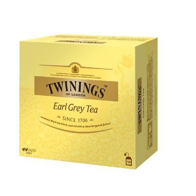 Чай Twinings Earl Grey Tea черный с бергамотом 50 пакетиков
