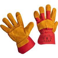 Перчатки защитные спилковые комбинированные усиленные желтые