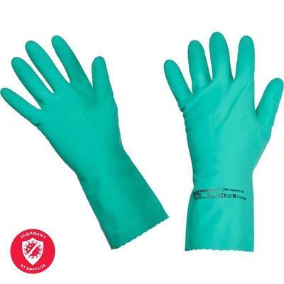 Перчатки латексные Vileda Professional Многоцелевые повышенная прочность зеленые (размер 7.5-8, М, артикул производителя 100756)
