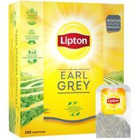 Чай Lipton Earl Grey черный с бергамотом 100 пакетиков