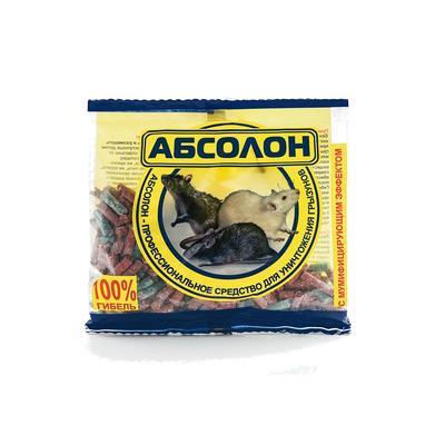 Средство для уничтожения грызунов Абсолон гранулы 100 г
