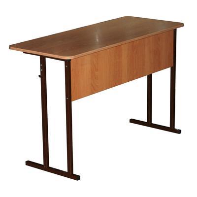 Стол ученический двухместный Фортресс (бук/коричневый, рост 5)