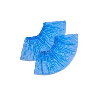 Бахилы одноразовые полиэтиленовые гладкие Прочные АРТ 40 3,5 г голубые (50 пар в упаковке)