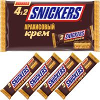 Шоколадные батончики Snickers с арахисовым кремом (4 штуки по 36.5 г)
