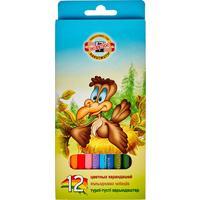 Карандаши цветные Koh-I-Noor Birds 12 цветов шестигранные