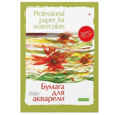 Папка для рисования акварелью Альт А3 8 листов в ассортименте