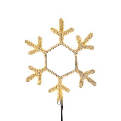 Фигура светодиодная Neon-Night Снежинка теплый белый свет 96 светодиодов 30х28 см