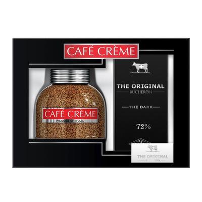 Кофе растворимый Cafe Creme 100 г  + шоколад Bucheron The Origina (промоупаковка)