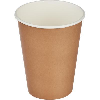 Стакан одноразовый Комус Стандарт бумажный коричневый 300 мл 50 штук в упаковке
