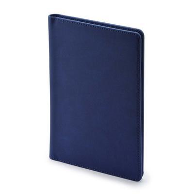Визитница настольная Альт Velvet искусственная кожа A5 на 72 визитки темно-синий (125х203 мм)