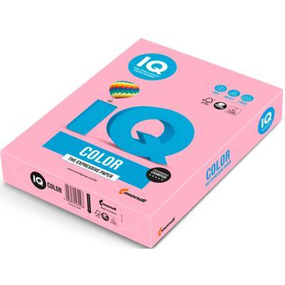 Бумага цветная для офисной техники IQ Color розовый фламинго OPI74 (А4, 80 г/кв.м, 500 листов)