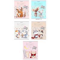 Тетрадь школьная Проф-пресс Милые животные А5 12 листов в клетку (обложка в ассортименте)