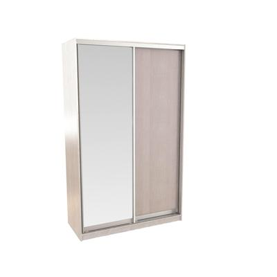 Шкаф-купе Вита (1400x600x2300, Фасад ЛДСП/Зеркало, дуб белёный)