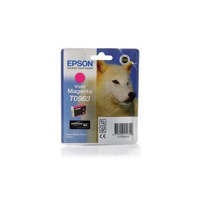 Картридж струйный Epson T0963 C13T09634010 пурпурный оригинальный