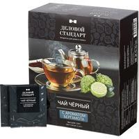 Чай Деловой стандарт черный с бергамотом 100 пакетиков
