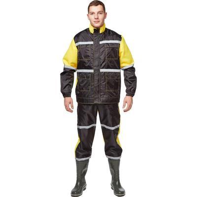 Костюм непромокаемый Мойщик-2 черный/желтый (размер 48-50, рост 182-188)