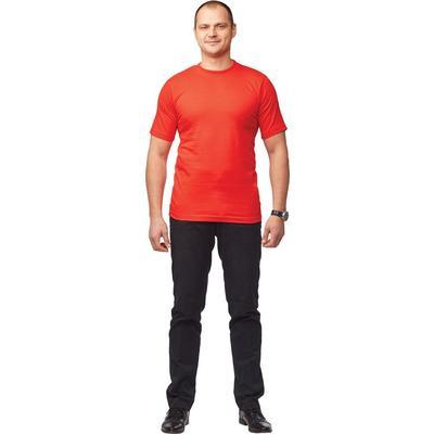 Футболка красная короткий рукав 100% хлопок L (48-50)
