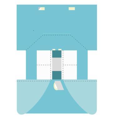 Простынь одноразовая Гекса стерильная Т-образная для абдоминально-промежностной области (плотность 75 г)