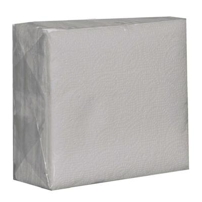 Салфетки бумажные Solfi 24x24 см белые 1-слойные 50 штук в упаковке