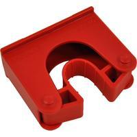 Зажим  для щеток и рукояток Hillbrush Hold 2 R полипропилен красный (диаметр 30-40 мм)