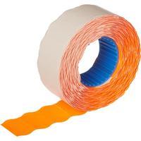 Этикет-лента волна оранжевая 22х12 мм эконом (10 рулонов по 1000 этикеток)