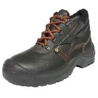 Ботинки утепленные Лига-эконом натуральная кожа черные с металлическим подноском размер 45
