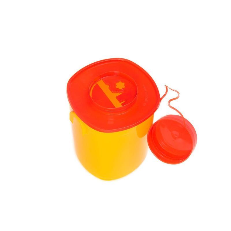Емкость-контейнер для медицинских отходов СЗПИ класса Б желтый 1.5 л (30 штук в упаковке)