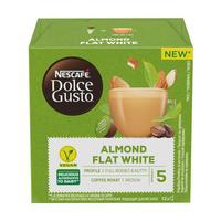 Кофе в капсулах для кофемашин Nescafe Dolce Gusto Flat White миндальный (12 штук в упаковке)