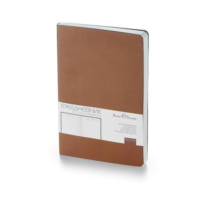 Ежедневник недатированный Bruno Visconti Megapolis Flex искусственная  кожа А5 136 листов светло-коричневый (140х210 мм)