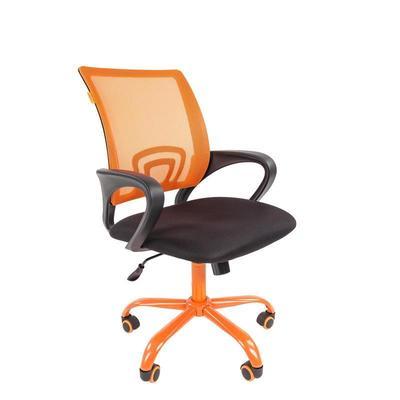 Уценка. Кресло офисное Chairman 696 CMet черное/оранжевое (ткань/сетка/металл). уц_меб