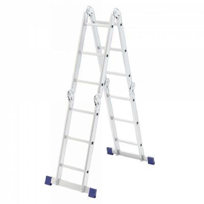Лестница трансформер Сибртех алюминиевая четырехсекционная 4x3 ступеней