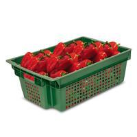 Ящик (лоток) овощной из ПНД 600x400x200 мм зеленый