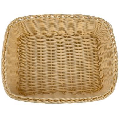 Корзина для хлеба Gastrorag плетеная прямоугольная пластиковая 32.5х26.5х9 см