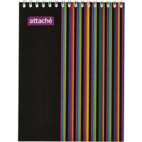Блокнот Attache А5 40 листов разноцветный в клетку на спирали (140х190  мм)