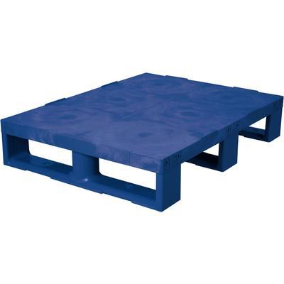 Паллет из ПНД синий 800х600х150 мм