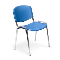 Стул офисный Easy Chair Изо синий (пластик, металл хромированный)