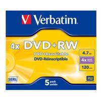 Диск DVD+RW Verbatim Serl Matt Silver 43229