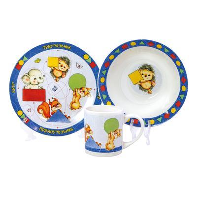 Детский набор керамической посуды Фигуры 3 предмета