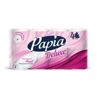 Бумага туалетная Papia Deluxe 4-слойная белая (8 рулонов в упаковке)