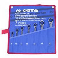 Набор трещоточных ключей King Tony 8-19 мм 7 предметов (12107MRN01)