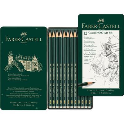 Набор карандашей чернографитных Faber-Castell  12 штук 2H-8B