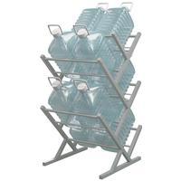 Стеллаж для бутилированной воды Стилс-10 на 10 тар по 5/6л серый металлик