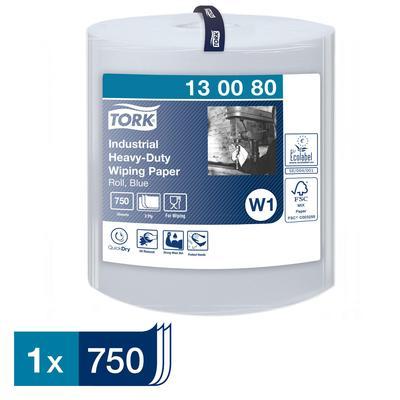 Протирочная бумага Tork 130080 W1 голубая (255 метров в рулоне)