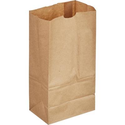 Крафт пакет бумажный коричневый 13.2х26.9х9 см (1000 штук в упаковке)