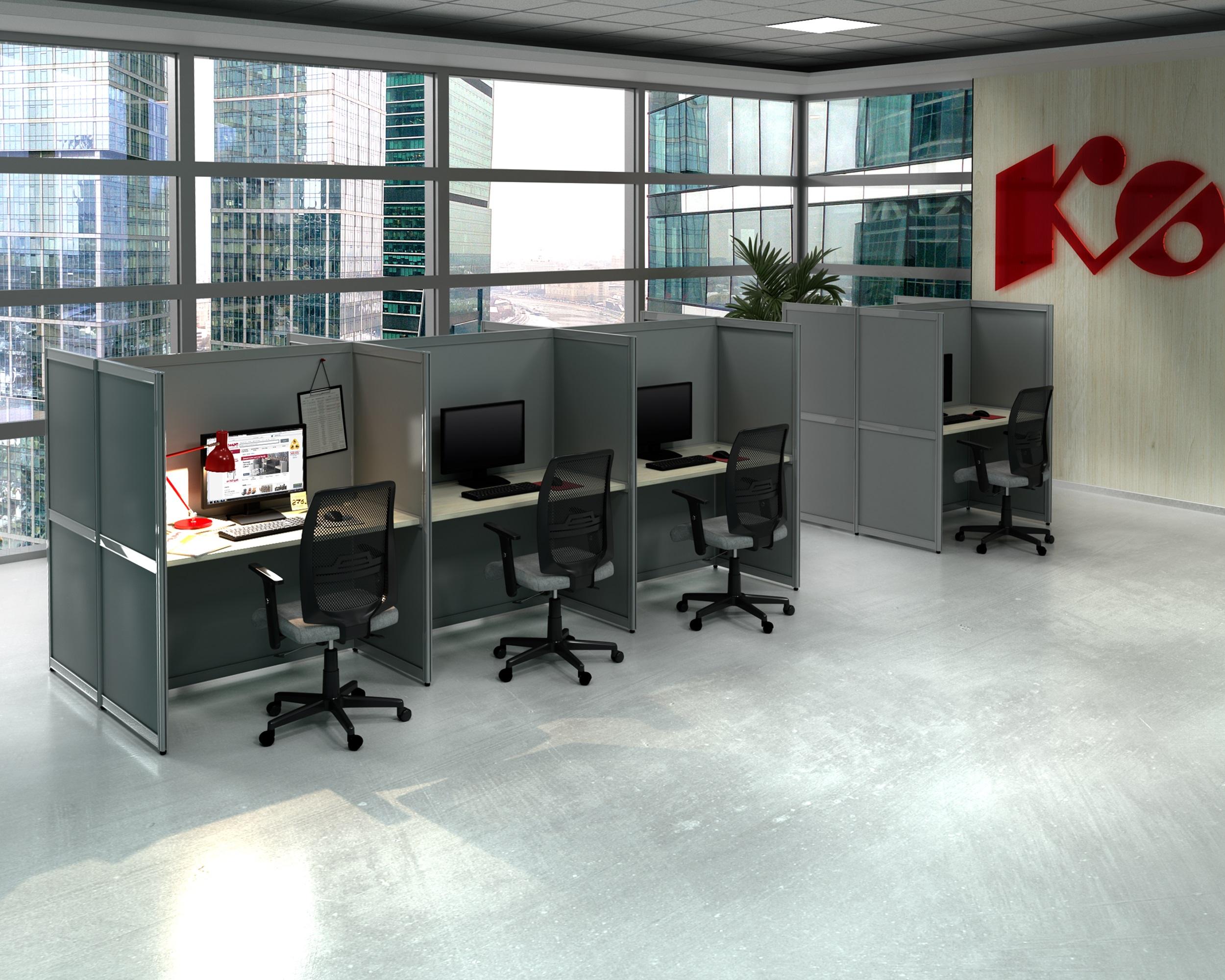 Модульные офисные перегородки EasyAux