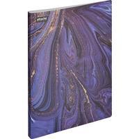 Папка с зажимом Attache Selection Fluid А4+ 0.45 мм фиолетовая с рисунком (до 120 листов)