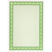 Сертификат-бумага Decadry зеленая рамка (А4, 115 г/кв.м, 25 листов в упаковке)